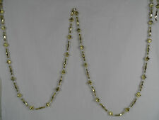 Gold and Clear Beaded Christmas Tree Garland new 9 foot holiday decorations