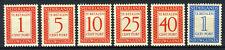 NL. NIEUW GUINEA P1/P6 MH* 1957 - Portzegels Cijfer en waarde in rechthoek