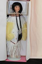 Treasury Collection Paradise Galleries Native American Indian Porcelain Doll