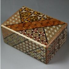 New 21 Step Japanese Wood Puzzle Secret Box Hakone Parquet Yosegi From Japan Y01