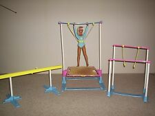 Dusty Doll with Gymnastics Set, Tennis Set, and Clothes