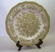 VINTAGE J & G MEAKIN DINNER PLATE ~ Avondale, Green, 10 Inches