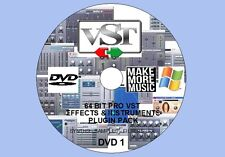 Windows 64-bit 16gb PRO VST/VSTi FX & strumenti plug-in pack per 64-bit Daws