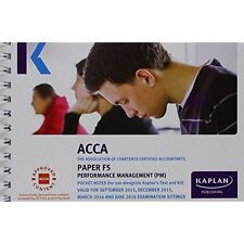 F5 Performance Management - Pocket Notes (Acca Pocket Notes), Very Good Conditio