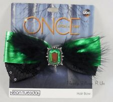 New Disney Once Upon A Time Zelena Wicked Witch Costume Cosplay Hair Bow Barette