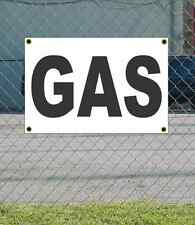 2x3 GAS Black & White Banner Sign NEW Discount Size & Price FREE SHIP