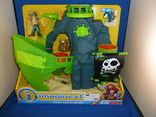 Fisher Price Imaginext Pirate Ship sea Ghost Island Glow new