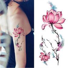 1Pc Tatouage Ephémère Temporaire Imperméable Modèle de Lotus DIY Dessin
