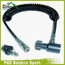 Paintball Air Coil Remote Hose Line w/Quick Disconnect Extend Stretch Length 4m