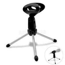 Adjustable Desktop Desk Table Top Tripod Microphone Mic Stand Holder W Clip