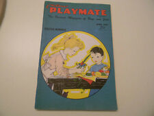 APRIL 1957 Children's Playmate Magazine with Rabbit Paper Doll EASTER ISSUE Good