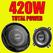 KENWOOD 420W totale 2-way 4 inch 10cm Auto Porta / scaffale COASSIALI ALTOPARLANTI COPPIA NUOVI