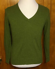 GEORGE Women's Large Pullover Shirt Cotton Blend Long Sleeves V-Neck Free Ship
