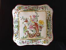 Antique Copeland Spode Asiatic Pheasant Square Dish 1909 Waring