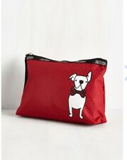 NWT Lesportsac FRENCHIE Dog Essential Wristlet Purse Red Dots French Bulldog