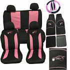 Volvo 740 760 780 850 960 Car Seat Cover Set 15 Pieces Sports Logo PINK 305