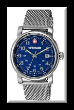 WENGER URBAN CLASSIC BLUE SUNRAY TEXTURED DIAL / STAINLESS ST BRACELET 1041.107