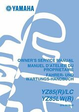Yamaha owners service workshop manual 2003 YZ85, YZ85(R)/LC YZ85LW(R)