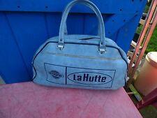 sac de voyage vintage en simili cuir bleu Intersport La Hutte