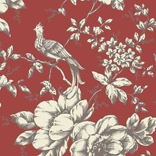 Red Victorian Floral GC29837 Wallpaper Double Roll FREE SHIPPING