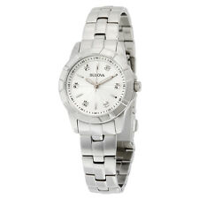 Bulova Classic Silver Dial Stainless Steel Ladies Watch 96P121