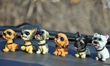 6 pcs Dog Doll Auto Car Accessories Shaking Head Dog Doll Car Decor Interior Hot