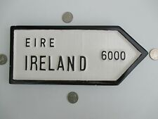 Vintage Hand Made/Painted Ireland Sign Plaque Polycrafts Furbo Galway Ireland !