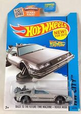 Hot Wheels Back to the Future Time Machine Hover Mode Delorean 2015 M Case BTTF