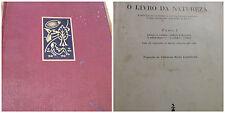 1960 FRITZ KAHN - O LIVRO DA NATUREZA - TOMO I -