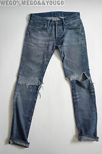 LVC Levi's Vintage Clothing 501 XX Big E Worn Torn Jeans SELVEDGE USA 28 X 32