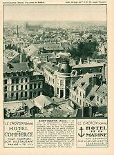 SAINT QUENTIN LE CROTOY HOTEL DU COMMERCE HOTEL DE LA MARINE PUBLICITE 1931 AD
