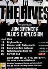 ORIGINAL THE HIVES 2005 UK TOUR POSTER - BRAND NEW - TYRANNOSAURUS HIVES