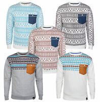 New Soul Star Men's Retro Aztec Casual Crew Neck Top Sweatshirt Jumper S M L XL