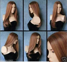 NEW222 this year new long brown mix straight wigs for women hair wig