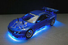 RC KIT LED TUNING 1/16 1/10 1/8 TAMIYA TT-01 LOSI LRP DRIFT 9V 12V READY TO USE