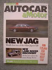 Autocar (13 Sep 1989) Jaguar Sovereign, Discovery, BMW 850, Peugeot 605, Celica