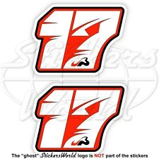 "JULES BIANCHI 17 Roter Formel 1 Fahrer F1 75mm (3"") Vinyl Sticker, Aufkleber x2"