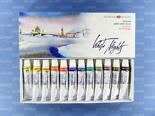 12 WHITE NIGHTS PROFESSIONAL Watercolour Paint Set in tubes Nevskaya Palitra