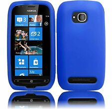 Silicone Skin Case for Nokia Lumia 710 - Blue
