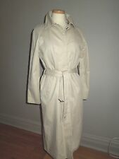 TOMMY HILFIGER BEIGE TRENCH COAT W/ ATTACHED LINING SIZE S VGUC