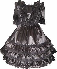 """Sabrina"" Custom Fit Lacy SATIN Ruffles GOWN Adult LG Sissy Dress LEANNE"