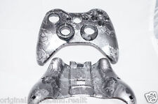 Zombie / Mutant Face GREY Xbox 360 Custom Controller Shell Hydro-Dipped Painted