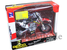 New Ray 57563 Geico Honda CRF 450R Dirt Bike 1:12 Kevin Windham #14