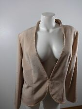 MONTAGE COLLECTION MON CHERI WOMENS ROSE PINK BEADED EVENING JACKET SIZE 16