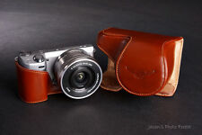 Handmade  Brown Genuine real Leather Full Camera Case bag for Sony NEX5T NEX5R