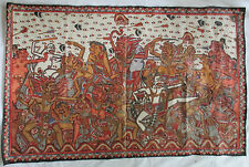 BALI INDONESIA BARONG AND RANGDA LARGE OIL PAINTING - GOOD VS EVIL