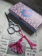 Sajou French Vintage Antique Style Embroidery Scissors- Eiffel Tower- Pink Charm