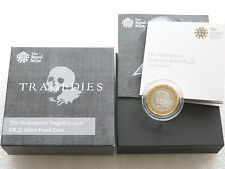 2016 William Shakespeare Tragedies £2 Two Pound Silver Proof Coin Box Coa
