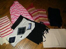 Preowned lot of 7 scarves Multi colors Black Cream Gap Banana Republic others