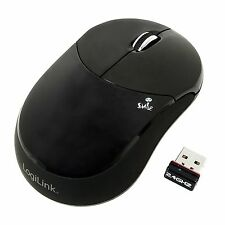 LogiLink Maus Optisch Funk Smile Wireless 2.4 GHz 1000dpi Mouse schwarz ID0075